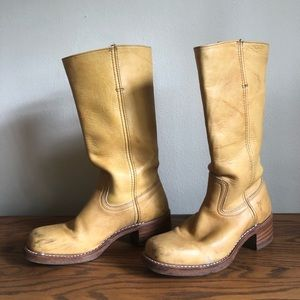 Frye Campus Boot Banana Yellow size 8